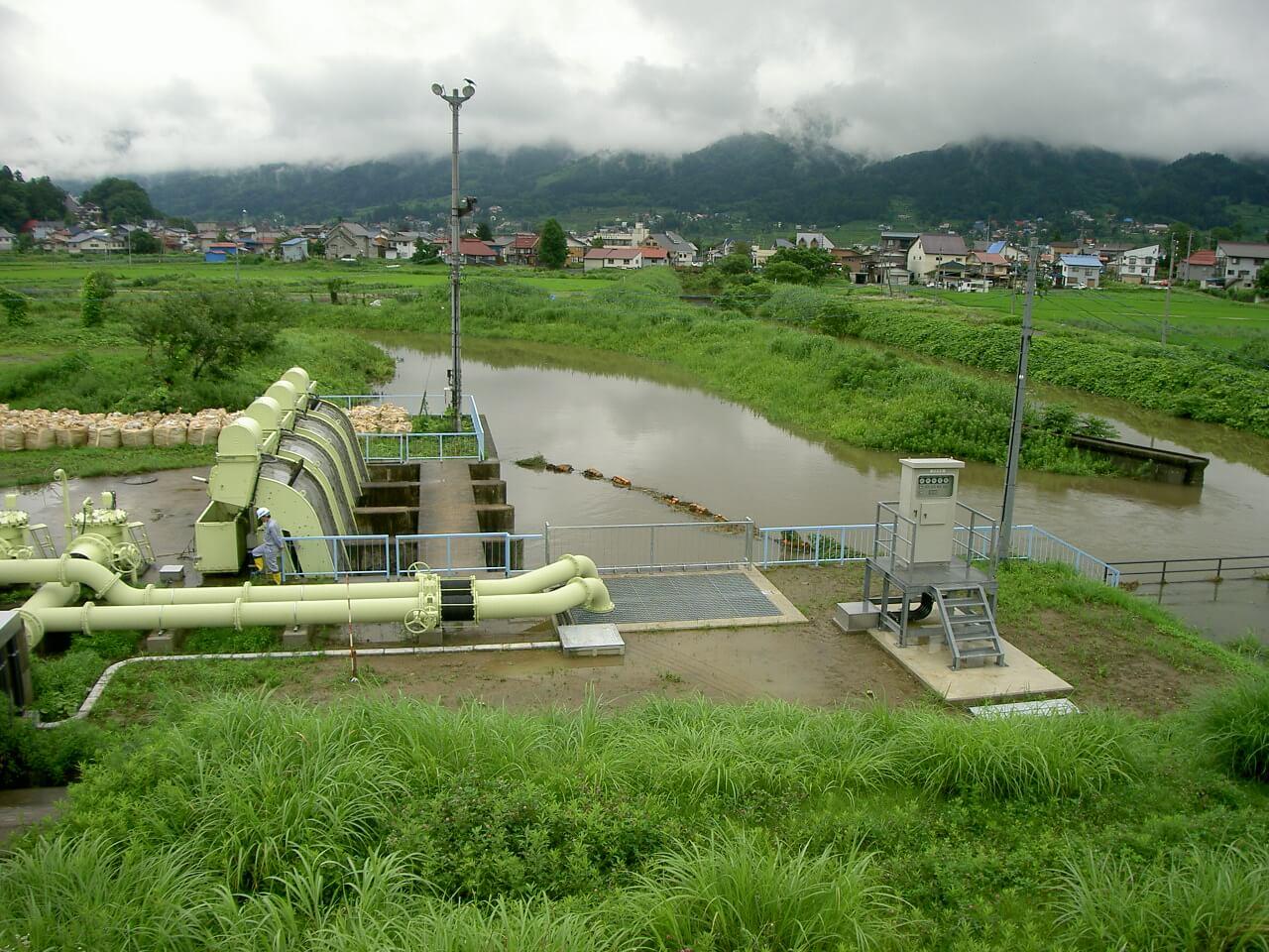 排水施設の全景写真