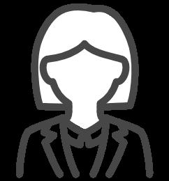 女性の企業担当者のイメージアイコン
