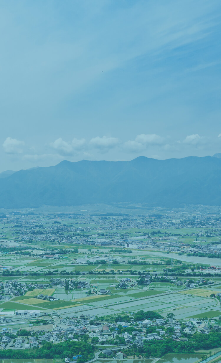 中信アスナの本社がある松本市の田園風景